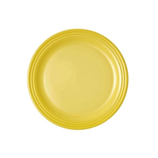 Prato raso redondo 27cm amarelo soleil le creuset