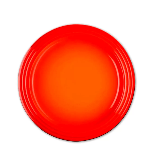 Prato sobremesa raso 22cm laranja le creuset