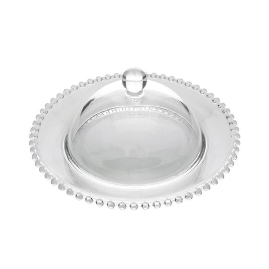 Queijeira de cristal pearl 20cm