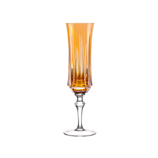 Taça de cristal lapidada para espumante 19 ambar und