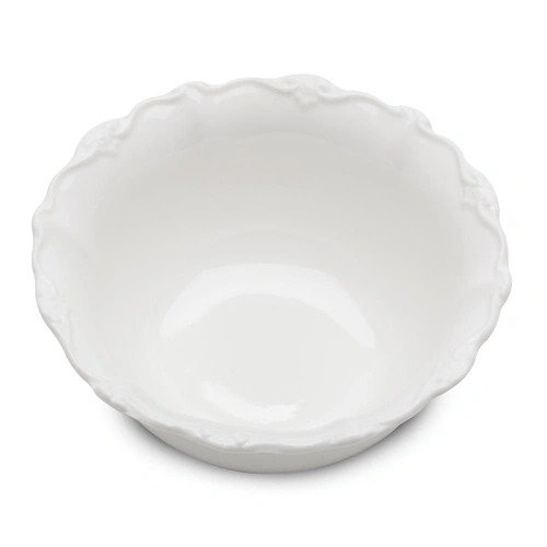 Tigela de porcelana fancy branco 14x14x6cm und