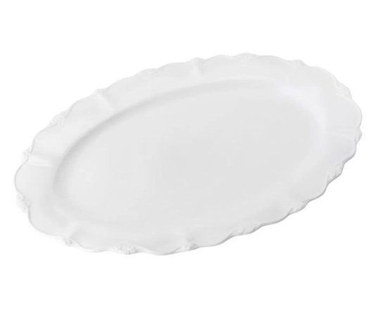 Travessa de porcelana oval fancy 33x22x3cm