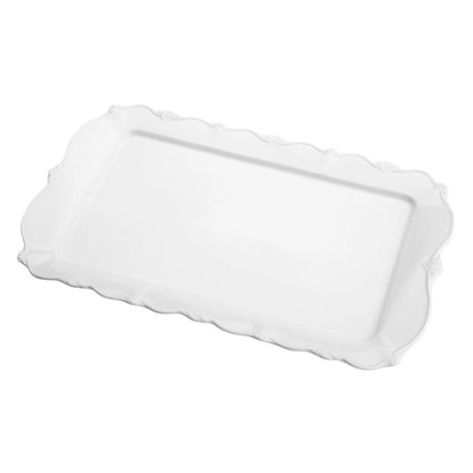 Travessa de porcelana retangular fancy 35,5x22x2,5