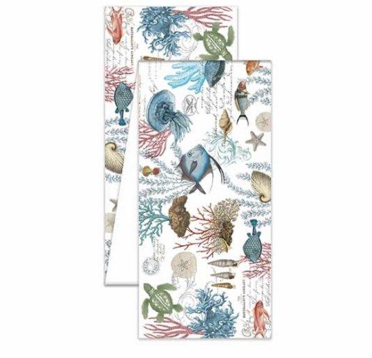 Trilho de mesa tecido m sea life michel design works