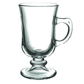 XÍCARAS DE VIDRO IRISH PARA COFFEE CAPPUCHINO 120ML 6 PEÇAS