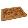 Tabua de cortar de bambu 39 x 29cm und