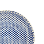 Prato raso bombain azul 6 peçcas