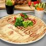 Prato raso churrasco 26cm 6 pecas