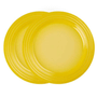 Prato sobremesa 22cm amarelo soleil le creuset