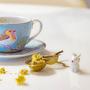 Xícara de chá azul early bird pip studio